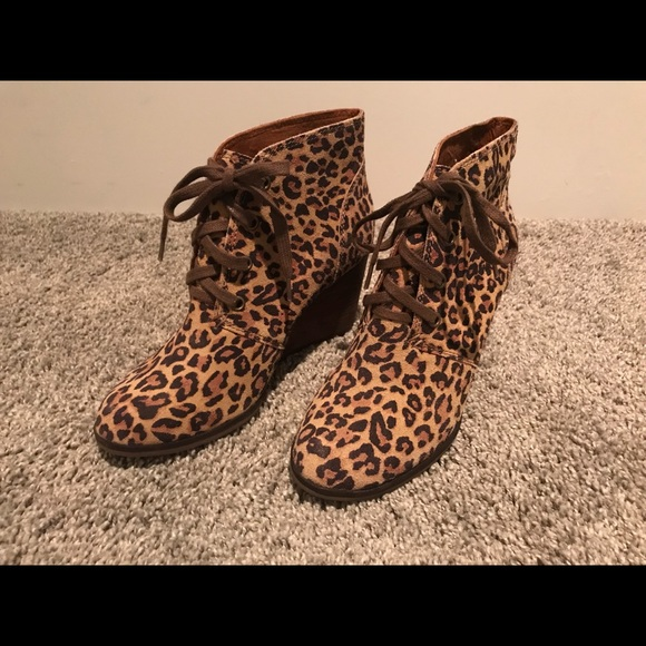 1eb2e04541ac Lucky Brand Shoes - Lucky Brand Cheetah Wedge Booties!